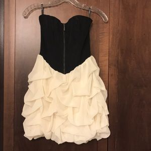 BeBe strapless corset dress